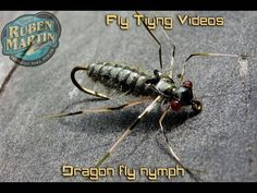 Dragon fly nymph - realistic imitation - Fly tying instructions by Ruben Martin - YouTube