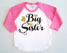 Big Sister Poly Cotton 3/4 Raglan Sleeve by SevenMilesPerSecond
