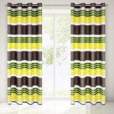 Zeleno žltý dekoračný záves do obývačky - domtextilu. Curtains, Shower, Bathroom, Prints, Insulated Curtains, Bath Room, Blinds, Rain Shower Heads, Bathrooms