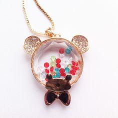 Bubble Bear Necklace - how cute