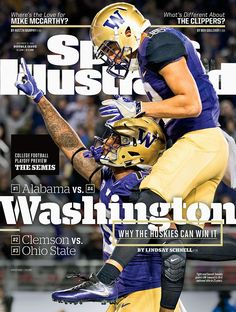 2016 Sports Illustrated Covers. Uw Husky FootballFootball And Basketball College ... e2ad3a7a8