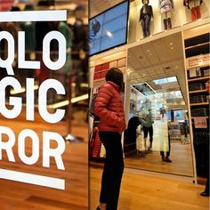 Uniqlo magic mirror helps shop shoppers decide which item to buy by without having to try the various colors available. It uses uses the Kinect's color-changing engine and a half-mirror touch panel to achieve its magic. #GuiltFreeTrying