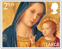 Christmas 2nd Large Stamp (2013) Madonna and Child