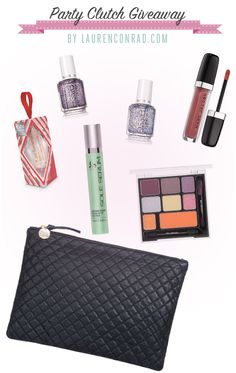 Win our holiday party clutch filled with all of our favorite holiday beauty necessities!