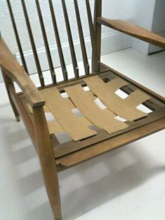 An Upholstereru0027s Journal: Rewebbing Danish, Rattan Or Wicker With Elastic  Webbing