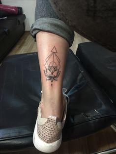 Tattoo girls tattoo lotus triangle