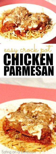 Oh yes, you really can make Chicken Parmesan in the crock pot and this one is crazy easy to make. #ad