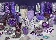 Purple Candy Ideas for the Candy Buffet