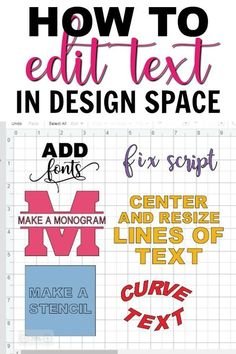 Learn how to make a monogram, add fonts, curve text and more in Cricut Design Space. See tips and tricks to get you on your way to designing projects with your Cricut. Source by ideas tips and tricks How To Use Cricut, Cricut Help, How To Make Stencils, Cricut Air 2, Cricut Vinyl, Cricut Monogram, Circuit Projects, Vinyl Projects, Design Projects