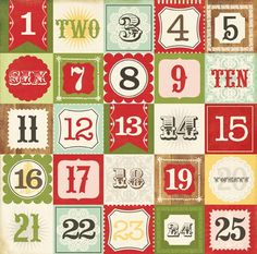 Christmas Countdown 12X12 This & That Christmas Paper by Echo Park Paper Co. - Two Peas in a Bucket