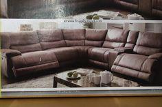Bilderesultat for brown leather power reclining sofa