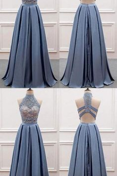 Cheap Prom Dress Two Pieces Party Dress High Neck Evening Dress Lace Top Long Prom Dress,Custom Made, Party Dress,Cheap Prom Dress Prom Dresses Two Piece, Formal Dresses, Wedding Dresses, High Neck Lace Top, Cheap Party Dresses, Lace Evening Dresses, Two Pieces, Custom Made, Beautiful Dresses