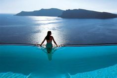 Swim in The Perivolas Infinity Pool, Santorini, Greece - Bucket List Dream from TripBucket