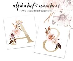 Pink Bouquet, Free Advertising, Gold Letters, Alphabet And Numbers, Flower Frame, Print Templates, Watercolor Flowers, Planner Stickers, Pink Flowers