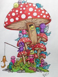 Facebook Photophpfbid Sketch InspirationColoring BooksColored PencilsZentangleDoodlesOrnamentsLandscapesColouring