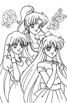 raya, marcy et mathilda Printable Adult Coloring Pages, Coloring Pages For Girls, Coloring Book Pages, Colorful Drawings, Cute Drawings, Drawing Sketches, Sailor Moon Coloring Pages, Sailor Princess, Old Cartoons