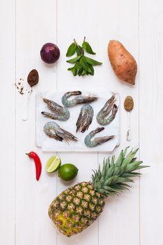 Prawns with pinapple salsa ingredients Pinapple Salsa, Jerk Recipe, Prawn, Tasty, Recipes, Ripped Recipes, Cooking Recipes