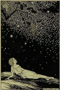 Stars, 1930, by Dorothy Lathrop (1891–1980). Ink on illustration board. Illustration for Sarah Teasdale, Stars Tonight, Macmillan Co (thanks Age Hill for that accurate reference!)