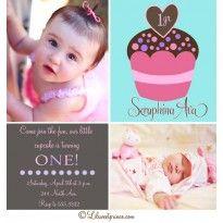Cupcake Themed Birthday Invitations