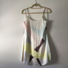 Alice & Olivia silk watercolor slip dress sz S Absolutely beautiful silk slip dress by Alice & Olivia. Water color type print, with pastel colors. Size small- fits about a 4-6. Brand new, Maybe worn twice. Retails for over $250. Alice + Olivia Dresses Mini