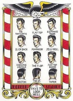 Rockabilly hair - ||| Pompador and Taper |||
