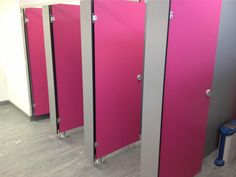 Pink Volante Toilet cubicles