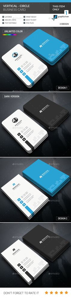 Vertical Circle Business Card Template PSD. Download here…