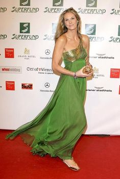 Green dress with gold