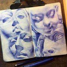 Color Pencil Drawings Moleskine Co. Drawing Sketches, Art Drawings, Realistic Drawings, Academic Drawing, Arte Sketchbook, Moleskine Sketchbook, Color Pencil Art, Color Pencil Drawings, Pencil Sketching