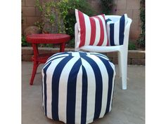 Add Extra Seating For Your Fourth of July Party -- http://www.hgtvgardens.com/decorating/7-great-poufs-with-punch?soc=pinterest