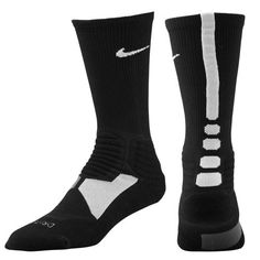 Nike Hyper Elite Basketball Crew Socks - Men's - Basketball - Accessories - Black/White