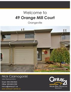 49 Orange Mill Court, Orangeville, Century 21 Miller Real Estate Ltd.