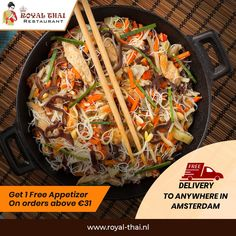 If your heart beats for the authentic oriental cuisines, Royal Thai is just the place for you. Order from us and dive in the taste! . . . . #SafetyFirst #OnlineOrder #FreeDelivery #Thai #ThaiFoods #ThaiDishes #Cuisines #FoodPorn #Foodie #ThaiCuisine #Restaurant #Yummy #Delicious #ThaiFoodLover #FoodBlogger #SeaFood #ThaiRestaurant #RoyalThai #HygienicEnvironment Best Thai Restaurant, Thai Dishes, Japchae, Beats, Amsterdam, Seafood, Oriental, Food Porn, Appetizers