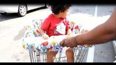 How To Make a Shopping Cart Cover for Babies and Toddlers, via YouTube.