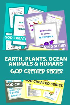 This God Created Series is so much fun! I made it to bless you and your kids and to increase your faith in the Bible from Genesis 1:1 on. This is a growing bundle and I will be adding lots more, so grab it now while the price is at it's lowest! #godcreatedtheworldin7days #godcreatedeveryoneequal #godcreatedusinhisimage #godcreatedyou #kidsbible #godcreatedskintones #kidsbiblecrafts #biblekidscrafts #kidsbiblelessonsprintables Bible Object Lessons, Bible Lessons For Kids, Reading Help, Writing Help, Science Activities For Kids, Steam Activities, Bible Crafts For Kids, Genesis 1, How To Start Homeschooling