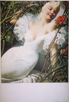 Donna con Rosa 1938 Gino Boccasile