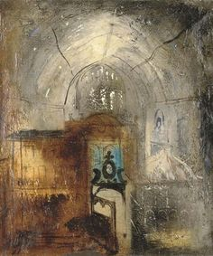 Rycote Chapel/Painting/John Piper 1945' oil on canvas 24 x 20 in. (61 x 50.8 cm.)