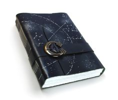 Dark Blue Astronomy Leather Journal