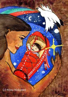 Sarahkka Goddess Of Birth Art Print by Art by Fairychamber - X-Small Original Artwork, Original Paintings, Birth Art, Brown Art, Goddess Art, Watercolor Artists, The Guardian, Fantasy Art, Art Prints