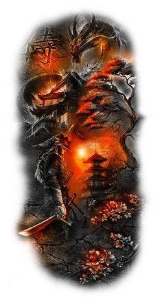 Japanese Warrior Tattoo, Japanese Leg Tattoo, Japanese Tattoos For Men, Japanese Tattoo Designs, Japanese Sleeve Tattoos, Tattoo Designs Men, Warrior Tattoo Sleeve, Samurai Tattoo Sleeve, Samurai Warrior Tattoo