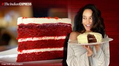 Here's how you can make it at home just like Lisa Haydon did Velvet Cake, Red Velvet, Egg Free Chocolate Cake, Lisa Haydon, Vanilla Essence, Cake Tins, Unsweetened Cocoa, Cream Cheese Frosting, Food Cravings