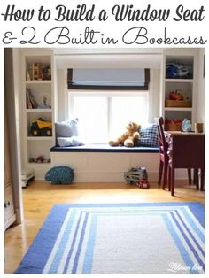 Window Benches, Window Seats, Kitchen Storage Bench, Home Library Rooms, Dining Table Makeover, Window Seat Storage, Diy Home Decor Projects, Pallet Projects, Woodworking Projects