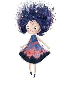 "5,002 Me gusta, 82 comentarios - Lucy Fleming (@illustratelucy) en Instagram: ""Sunset a little Friday character doodle #girl #sunset #dress #illustration #kidlit #sweet #float…"" Dress Illustration, People Illustration, Character Illustration, Watercolor Illustration, Friday Illustration, Watercolour, Doodle Girl, Girls Characters, Cute Drawings"