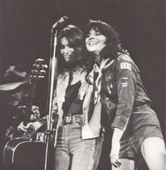 Linda Ronstadt and Emmylou Harris. Two more of my heroes
