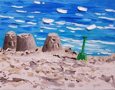 Playa de cuchillo de paleta pintura 14 pintura al óleo