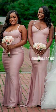 Mermaid Bridesmaid Dresses, Wedding Bridesmaids, African Bridesmaid Dresses, Bridesmade Dresses, Beautiful Bridesmaid Dresses, Bridesmaid Dress Styles, Bridesmaid Ideas, Black Wedding Dresses, Sexy Dresses