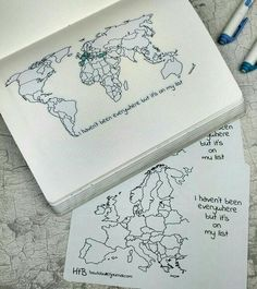 IG @planningroutine I haven't been everywhere but it's on my list Bullet journal entry idea travelling world map   [L]