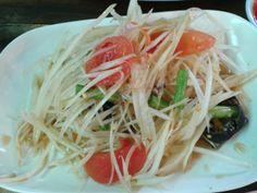 Papaya salad #Somtam crab