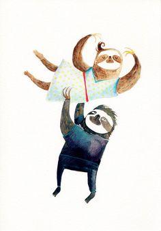 Bicho preguiça dançando hehe