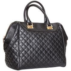 Moda Luxe Quilted Satchel Handbag - Black (Target $49.99)